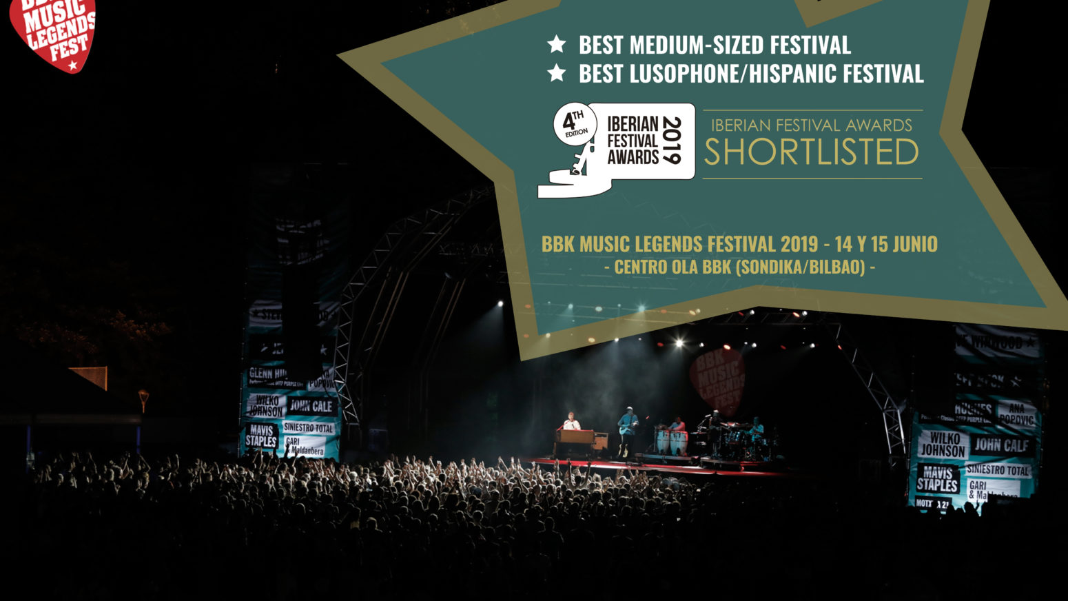 BBK MUSIC LEGENDS FESTIVAL FINALISTA EN IBERIAN FESTIVAL AWARDS 2019
