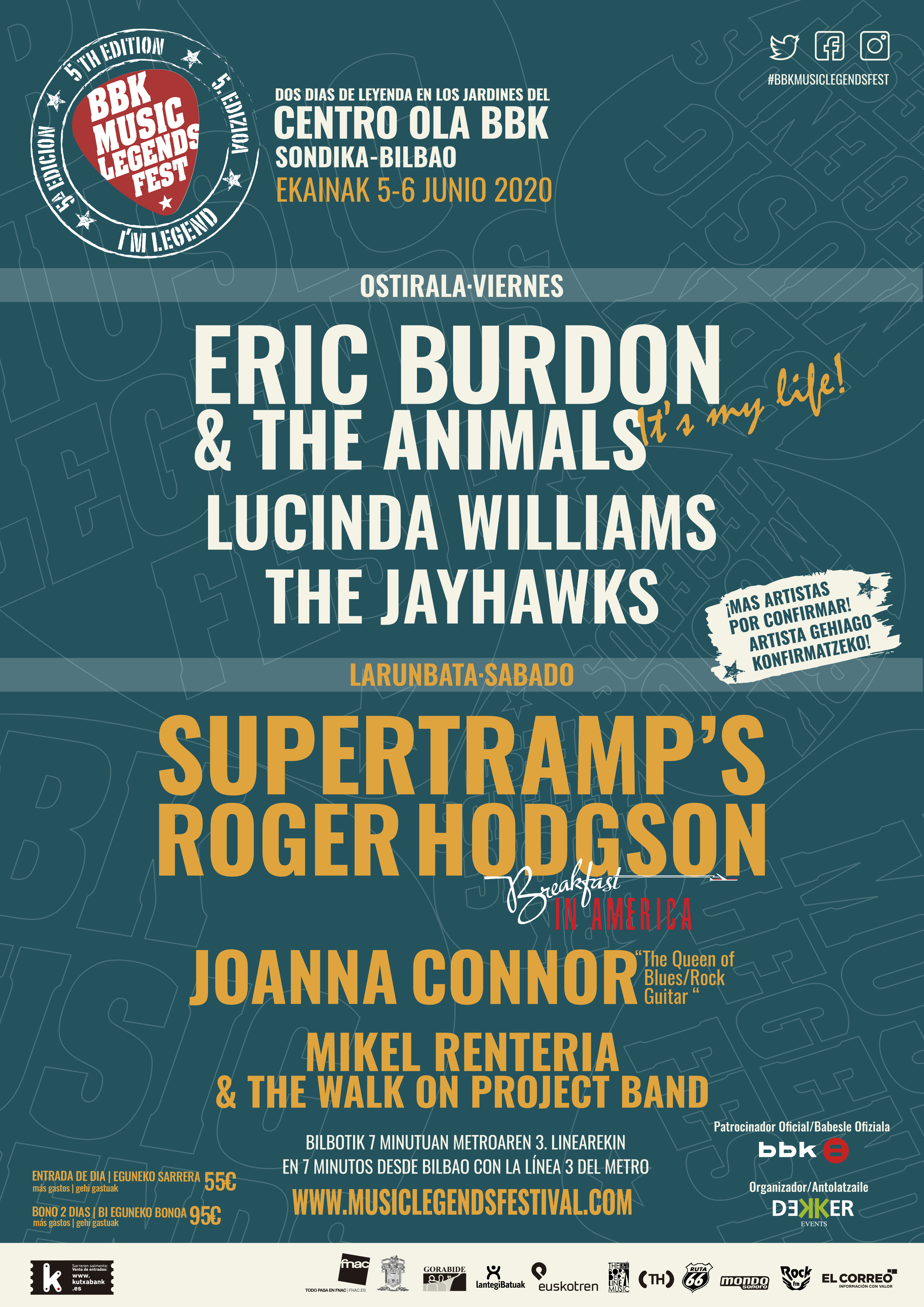 BBK Music Legends Festival 2020: ¡Eric Burdon & The Animals, Lucinda Williams y Mikel Renteria se unen al cartel!  - Página 2 Cartel-6-artistas-2020_baja-1