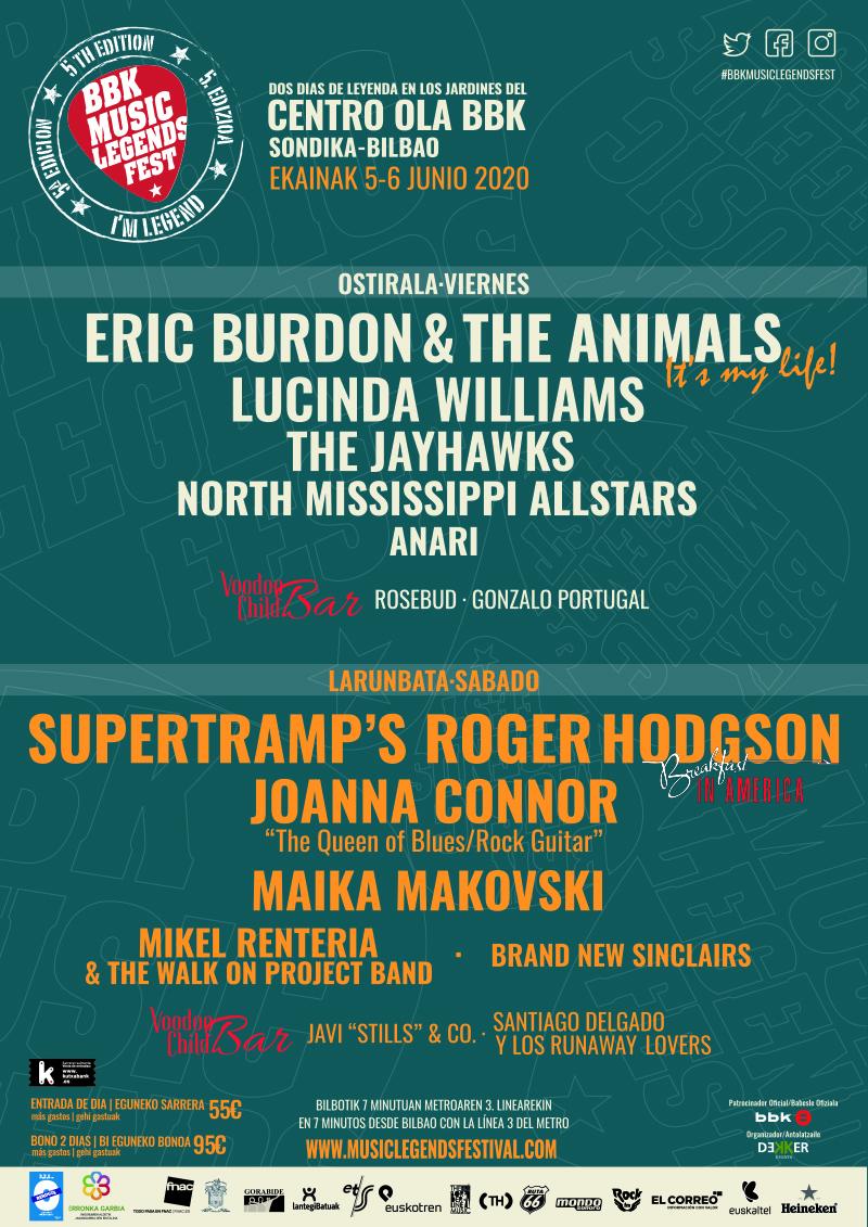 BBK Music Legends Festival 2020 | june, in Sondika/Bilbao -