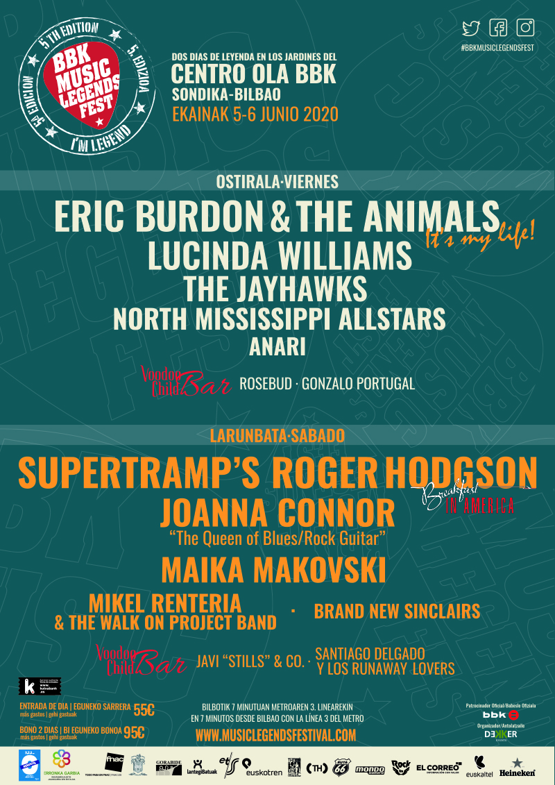 BBK Music Legends Festival 2020 | ekaina, Sondika/Bilbao -