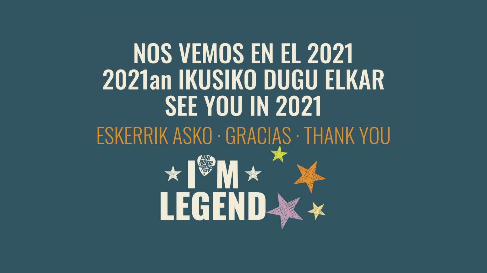 EL BBK MUSIC LEGENDS FESTIVAL APLAZADO AL 2021